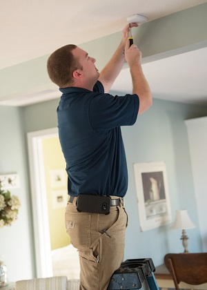 Home Security System Installation by Security Alarm Technician