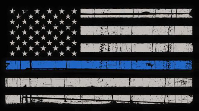 stand with the blue