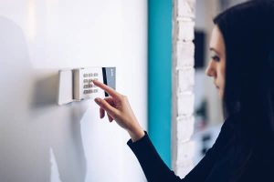 arm your home security alarm